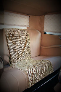 Interior of Vintage Car Fabric by Designer Catherine Martin