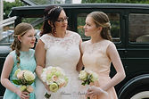 Bride and daughters with vintage car  Roaring Twenties Vintage Car Hire