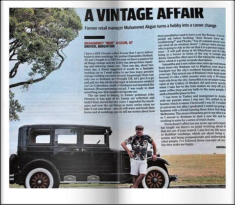 Courier Mail Article about Muhammet Akgun owner of Roaring Twenties Vintage Car Hire
