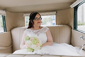 Bride inside vintage car  Roaring Twenties Vintage Car Hire