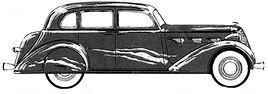 Chrysler 1936 Airstream line art pic2.jp