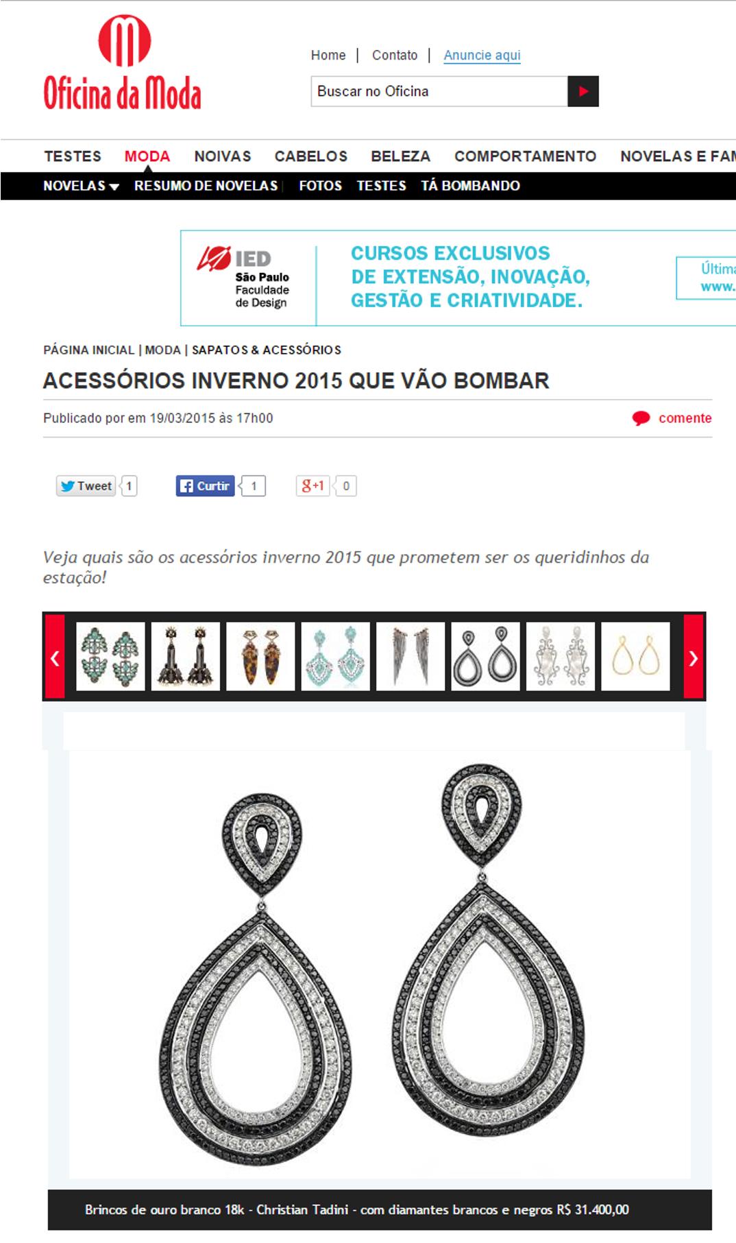 19/03/2015 | Site Oficina da Moda