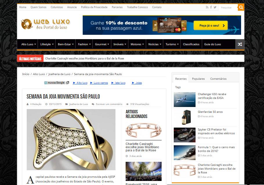 03/12/2015 | Web Luxo