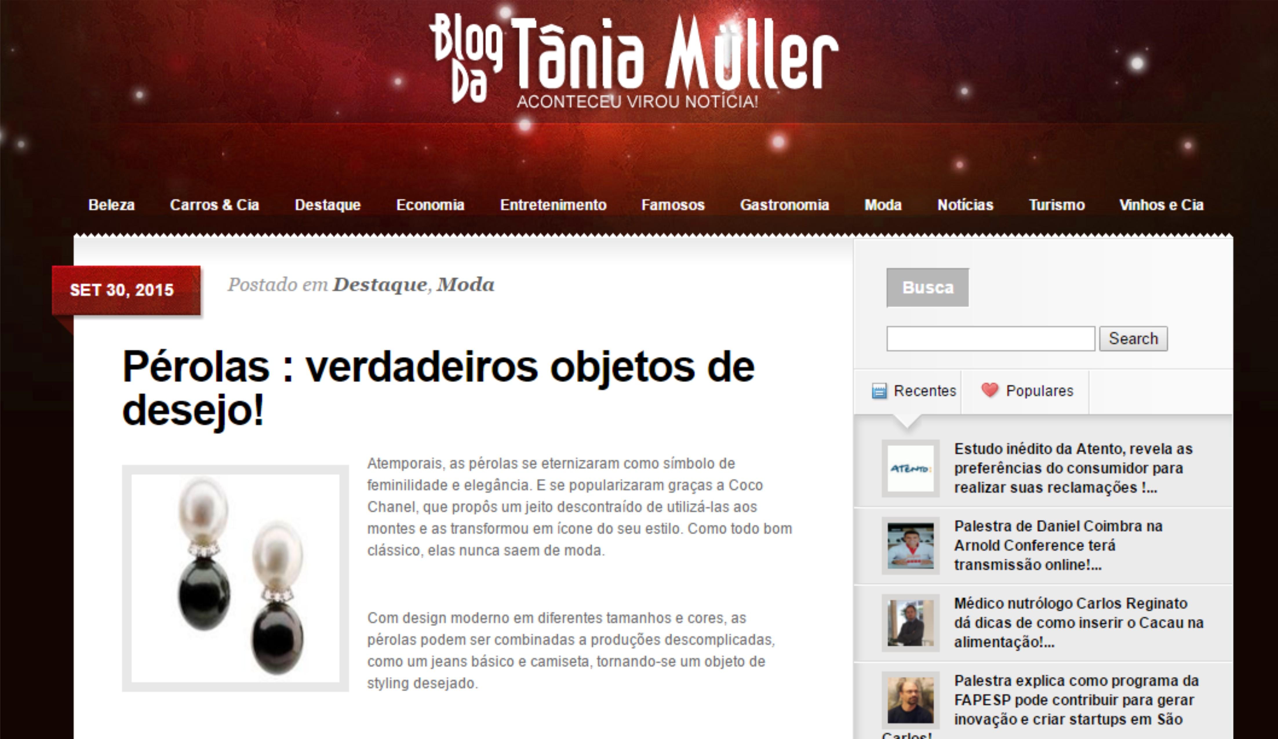 30/09/2015 | Blog Tânia Müller