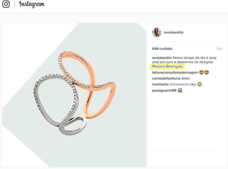29.11.16 | Instagram Revista Estilo