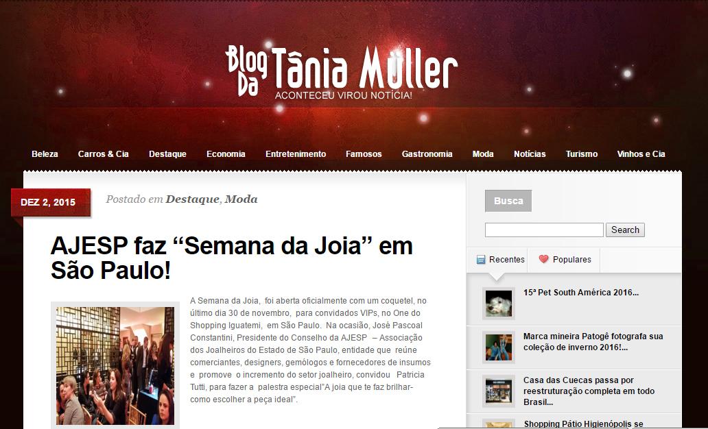 02/12/2016 | Blog da Tânia Muller