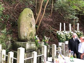 日韓合同 犠牲者16名の旧青山トンネル慰霊祭に参加(伊賀市)