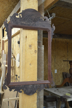 Chippendale Mirror w/ Carved Corne