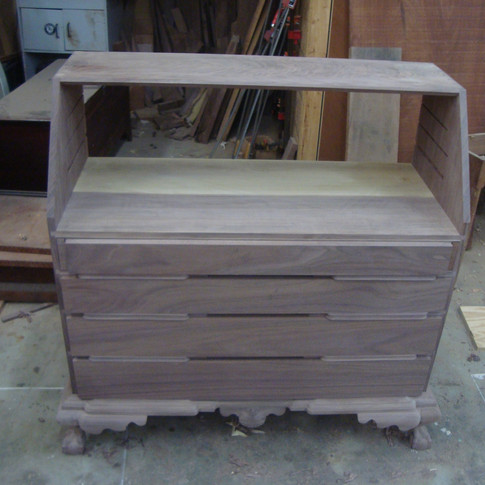 fitting the drawer fronts