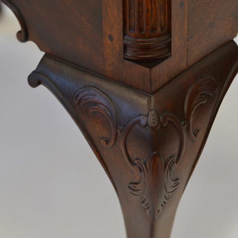 detail of knee carving