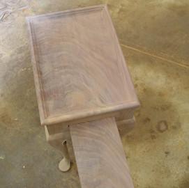 crotch Walnut tray and top