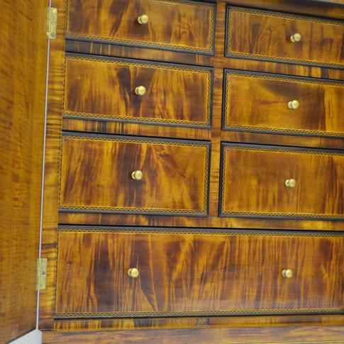 detail of interior drawers