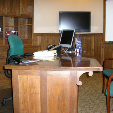 side view of desk