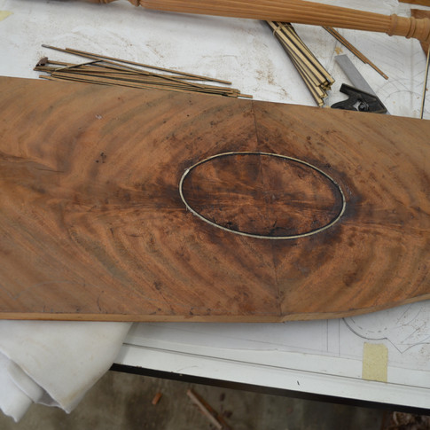 veneering, stringing, and inlaying the top