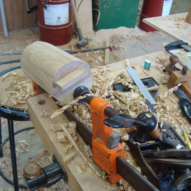 shaping the arm roll and fitting joint