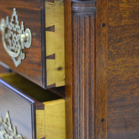 detail of drawer dovetails