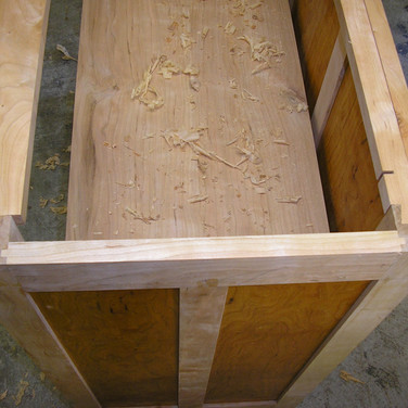 view of top rails dovetailed to legs