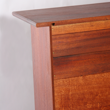 detail of housed tapered dovetail securing top to sides