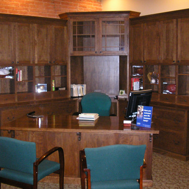 full view of desk and credenza