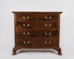 Five drawer Chippendale bureau25