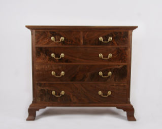 Five Drawer Chippendale Bureau