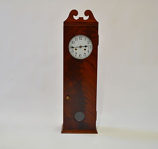 Crotch Mahogany Coffin Clock