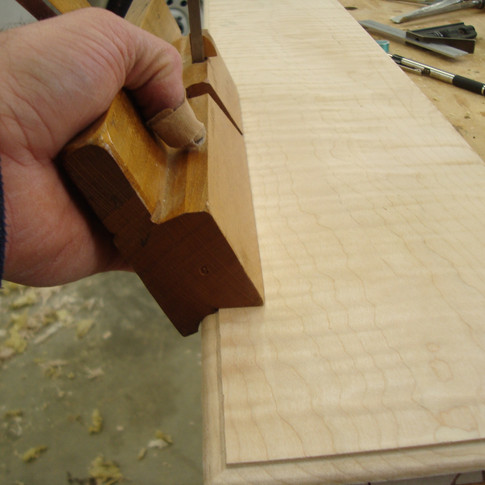 shaping the drawer lip