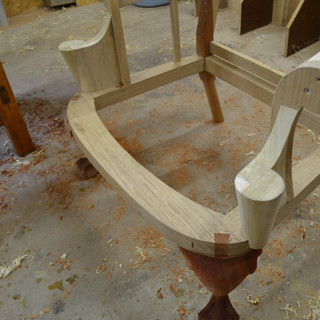 detail of leg joinery