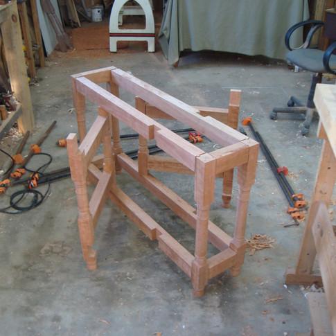 base of table without finish