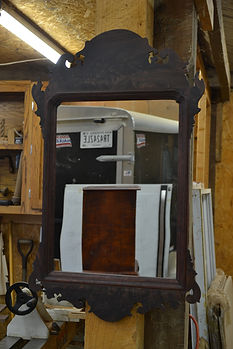 Chippendale Mirror with Carved Corners