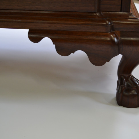 detail of finished foot