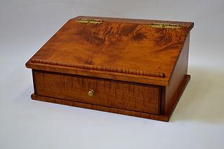 Tiger Maple Tabletop Desk