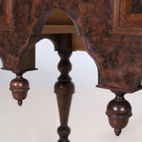 detail of drop finials and bead