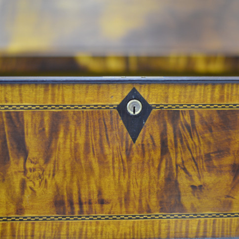 detail of lock and inlaid Rosewood for escutcheon