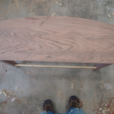 English Walnut veneered top