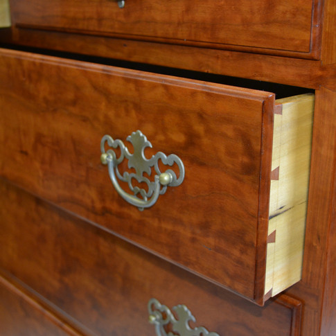 Curly Cherry with Poplar drawer sides