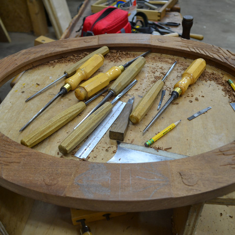carving the frame