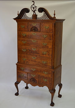 Chapin Highboy with Cartouche