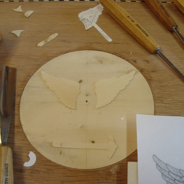 inlaying the crest