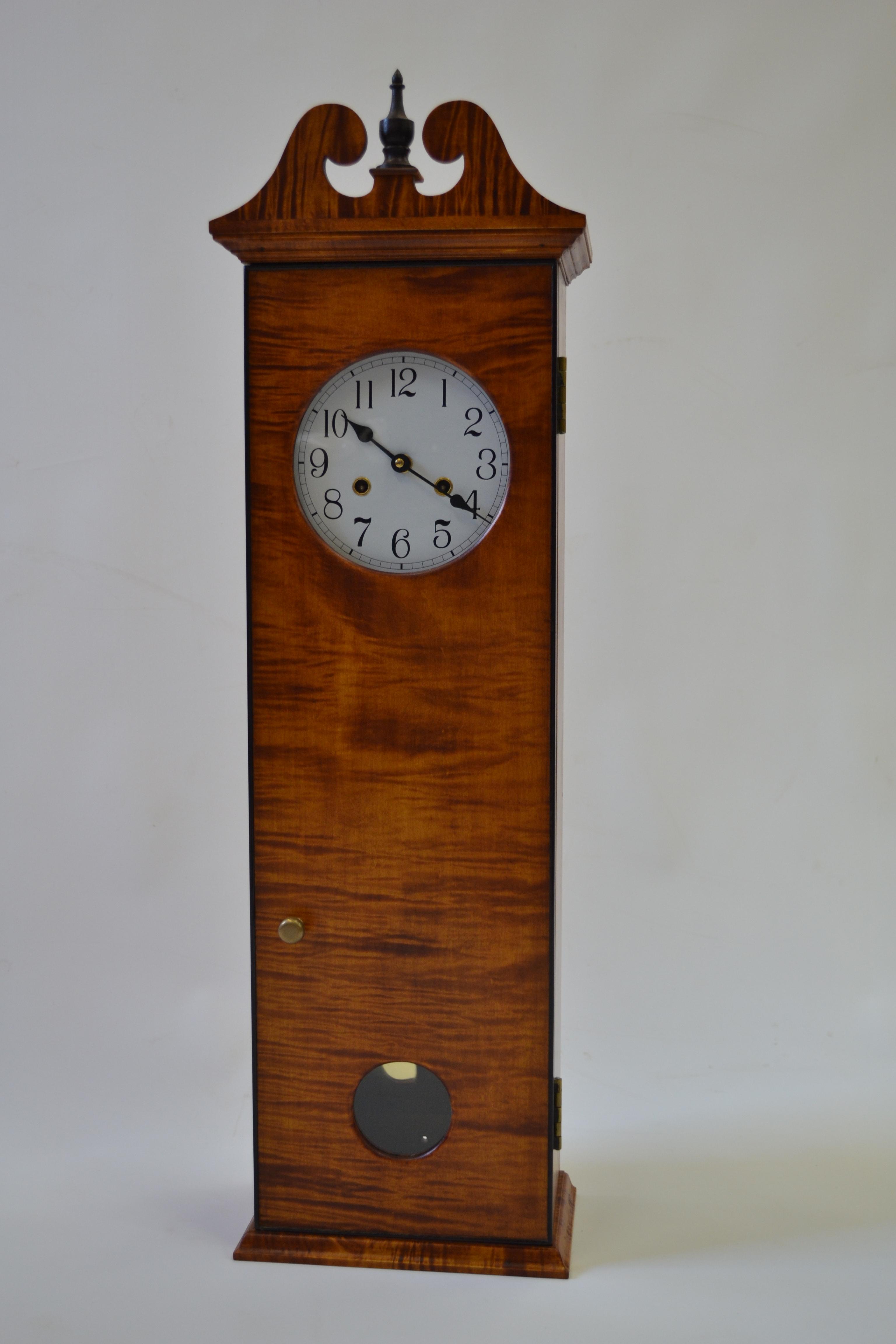 Tiger Maple Coffin Clock
