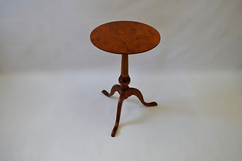 Tiger Maple Pedestal Table