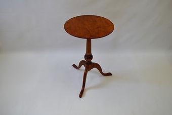 Tiger Maple Pedestal Table