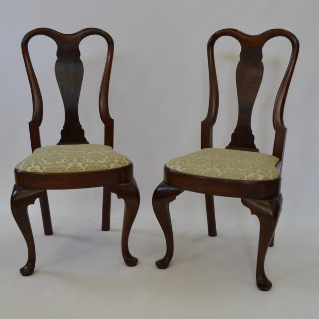 Queen Anne Side Chairs Front View