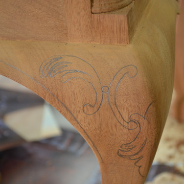 laying out the carving