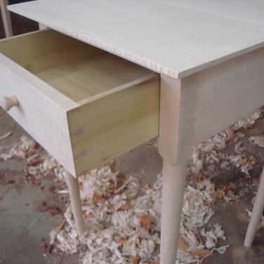 drawer with hand cut dovetails