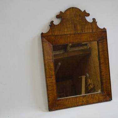 Tiger Maple Queen Anne mirror
