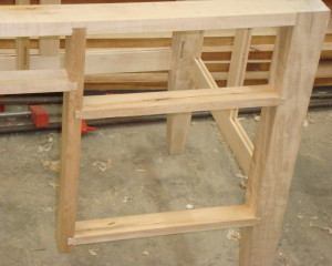 dovetailed frame joinery