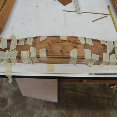 veneering the front rail