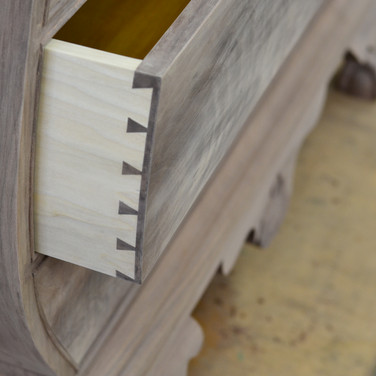 curved hand cut dovetails