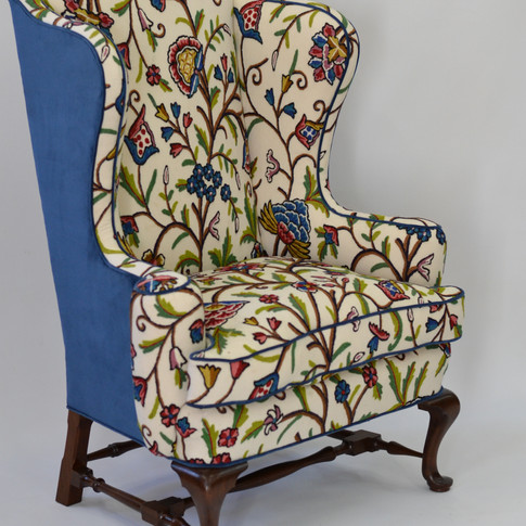 3/4 view of finished chair
